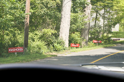 Good...Night...Irene...Good night! lol Signs along Captain Wooster road, Oxford, ct.