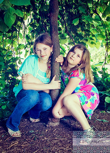 Girls Framed by Tree Full-