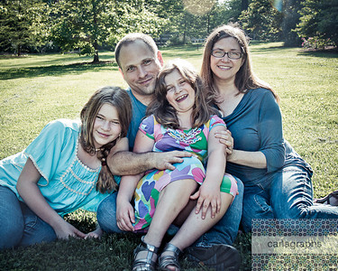 Fam on Grass 8x10 crop art tint-