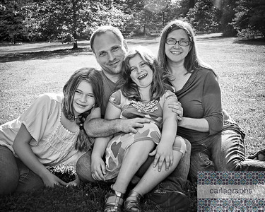 Fam on Grass 8x10 crop bw-
