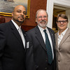Responsible Fatherhood advocate John Liang, JDI's Men's Initiative Coordinator Craig Norberg-Bohm and GCSDV Director Sheridan Haines <br /> 5/8/2014 for Jane Doe Inc. © Ilene Perlman Photography