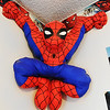JMag/T. Rob Brown A Spider-Man wall decoration in Brad Douglas' Joplin Spider-Man cave.