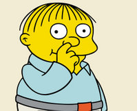 Ralph Wiggum on THE SIMPSONS on FOX.  ™©2001FOX BROADCASTING  CR:FOX  © and™  The Simpsons and Twentieth Century Fox Film Corporation. All Rights Reserved.