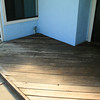 Notice the old deck is very grey looking..