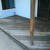 This part of the deck has not been sanded yet... it shows.
