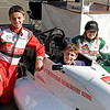 James in the RF98 with two Karting friends at Eastern Creek.