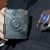 J.S.CARRAS - JCARRAS@DIGITALFIRSTMEDIA.COM  Saratoga Springs Police officer Scott Johnson displays body camera Tuesday, January 13, 2015 in Saratoga Springs, N.Y..