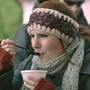 J.S.CARRAS - JCARRAS@DIGITALFIRSTMEDIA.COM   Jackie Breidenstein, of Brunswick samples chowder during the 17th annual Chowderfest Saturday, January 31, 2015 in Saratoga Springs, N.Y..