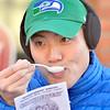 J.S.CARRAS - JCARRAS@DIGITALFIRSTMEDIA.COM   Tim Wong, of Saratoga samples chowder during the 17th annual Chowderfest Saturday, January 31, 2015 in Saratoga Springs, N.Y..