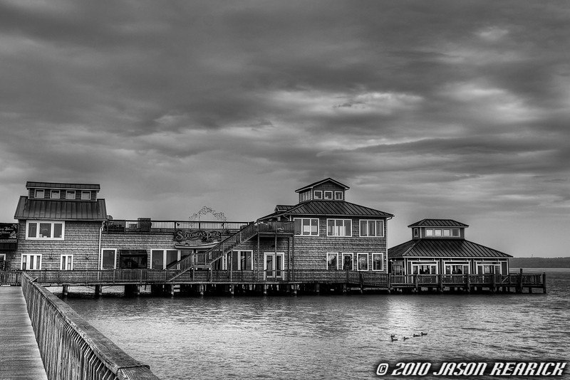 Aug 15th,  Solomons Pier on a cloudy overcast afternoon.