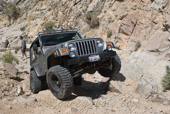 Jeep TJ in Last Chance Canyon