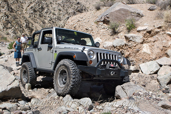 Jeep on the rocks in Last Chance Canyon