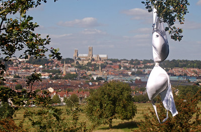 Hanging around on South Common, with the Cathedral on the hill in the distance