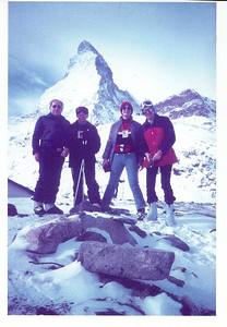 1982 JER Mathews skiing Zermatt with Leo a