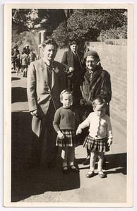 1959 John JERM and Louise Mathews with Mary and Paula Mathews