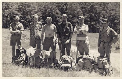 JER Mathews (3rd from left) in Olivine River, Southland a