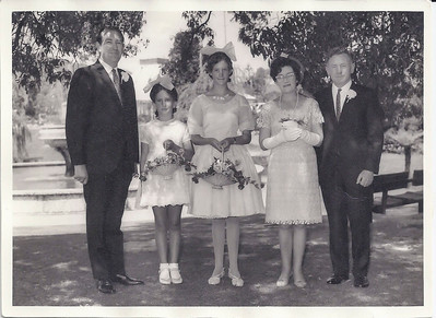 1969 - Peter Ainsworth, Wendy & Bronwyn Taylor at JER Mathews & Molly Jenkins wedding a