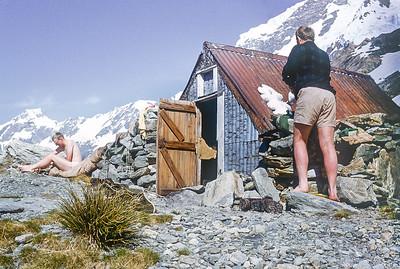 1963 JER Mathews on Mt Sefton Bivvi - Mt Cook a NEG