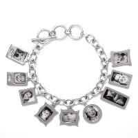 Bracelet_K_03, $58 plus price of charms<br /> With this solid sterling silver bracelet, you may choose one charm or as many as you'd like. Each photo is reproduced and sealed on each charm making them waterproof, fadeproof and scratch resistant.