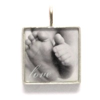 """Necklace_K_17, $50.00 or $62.00 depending on chain length (your choice of chain)<br /> Your photo is reproduced and sealed making the pendant waterproof, fadeproof & scratch resistant. Photo measures 5/8"""" square. Sterling Silver."""