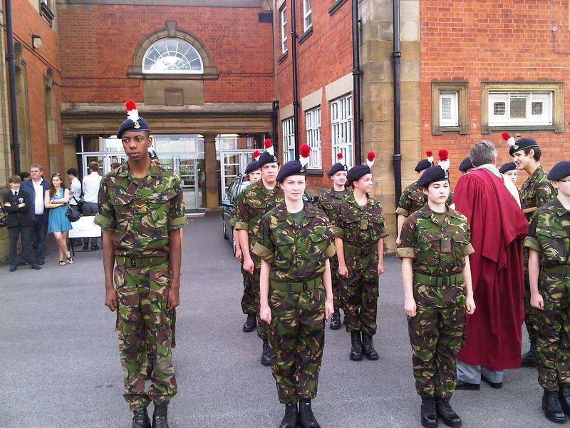 Jamie on parade