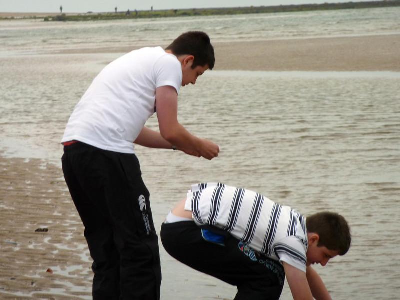 Jamie & Ian on Alnmouth Beach 2011
