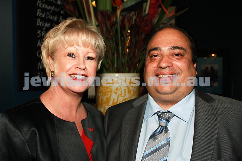 7-11-2012. Maria Lohan and Philip Stanfield (Westpac). JIFF Melbourne launch. Classic Cinemas, Elsternwick. Photo: Lochlan Tangas