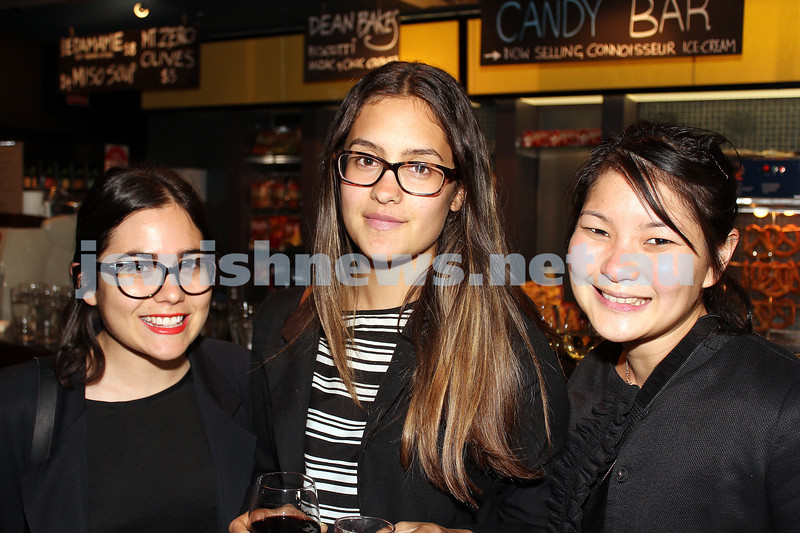 7-11-2012. Elise Santangelo, Amelia Goss and Jennifer Yani (Studio Round). JIFF Melbourne launch. Classic Cinemas, Elsternwick. Photo: Lochlan Tangas