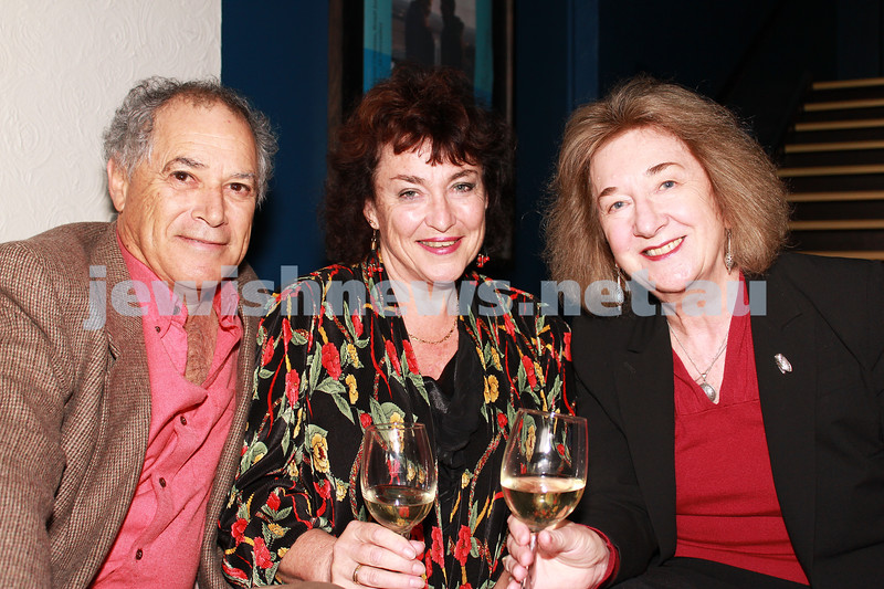 7-11-2012. Peter Levy, Sharon Hurst and Jan Epstein. JIFF Melbourne launch. Classic Cinemas, Elsternwick. Photo: Lochlan Tangas