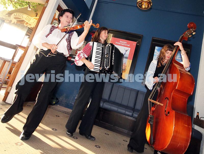 7-11-2012. Hungarian Gypsy Melbourne trio Vardos. JIFF Melbourne launch. Classic Cinemas, Elsternwick. Photo: Lochlan Tangas