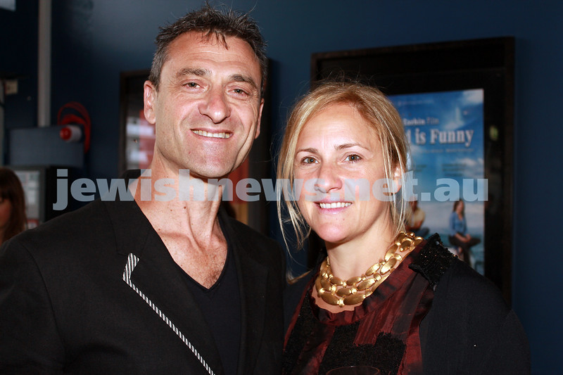 7-11-2012. Festival Director Eddie Tamir and Lindy Tamir. JIFF Melbourne launch. Classic Cinemas, Elsternwick. Photo: Lochlan Tangas