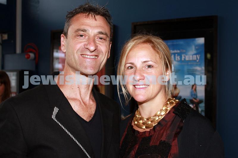 7-11-2012. Festival Director Eddie Tamir and Lindy Tamir. JIFF Melbourne launch. Classic Cinemas, Elsternwick. Photo: Lochlan Tangas