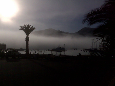 mary feuer Fog rolling through Avalon Harbor, 1/12/08. Camera: Blackberry Curve cameraphone.