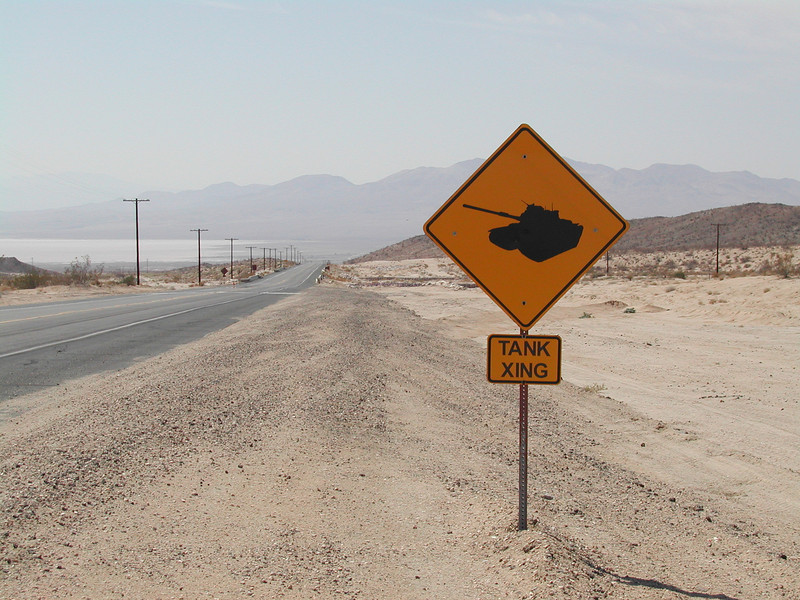 "Goldstone CA: ""Tank Crossing""  <a href=""http://www.kevitivity.com"">www.kevitivity.com</a>"