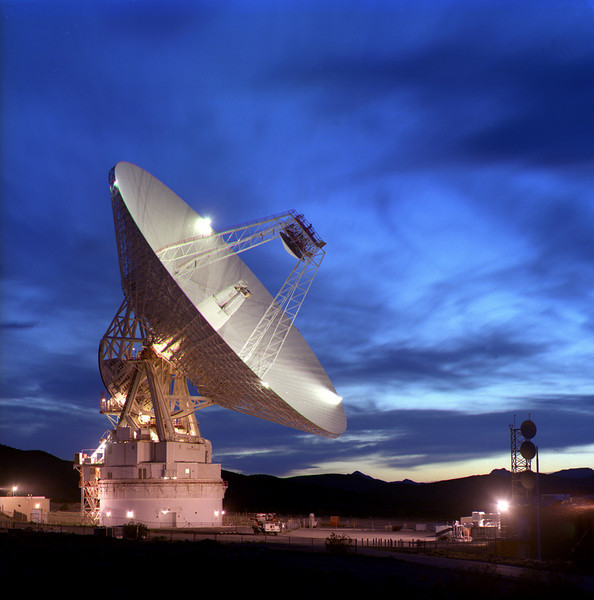 DSS-14, Goldstone California <br /> This is NOT my photo - Photo courtesy of NASA/JPL-Caltech.<br /> <br /> I administer a network of Sun and Linux computers in the base of this dish.  We are moving more and more to Linux because it's many times cheaper, many times faster, and much easier to maintain. However, I still use an old, cranky Sun Sparc10 as an NIS server here (believe it or not).    My Linux machines do the important work however - curse you Solaris!!!  We recently used my machines here to image near earth asteroid