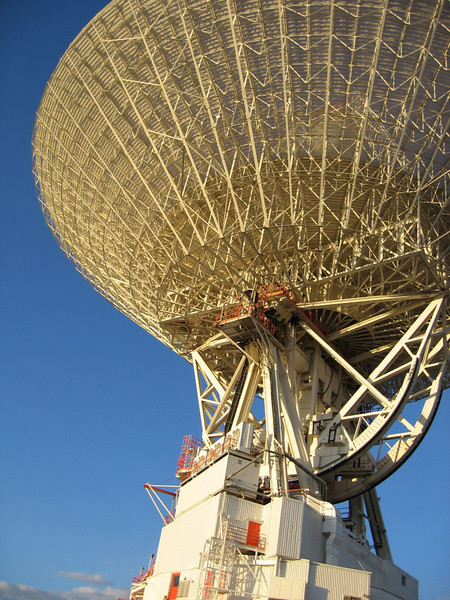 """DSS-14, Goldstone CA (Mars)  <a href=""""http://www.flickr.com/photos/sgt_spanky/35811144/in/set-874253/"""">www.flickr.com/photos/sgt_spanky/35811144/in/set-874253/</a> Radar pr0n.  We use a small bank of Linux machines in the base of this dish to help image celestial bodies using deep space radar.  The dish looks small from this perspective, but it's actually 70-meters (230-feet) in diameter - capable of tracking a spacecraft traveling more than 16 billion kilometers (10 billion miles) from Earth. <a href=""""http://www.kevitivity.com"""">www.kevitivity.com</a>"""