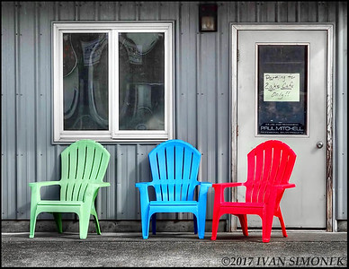 """COLORFUL  CHAIRS""."