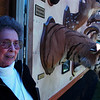 Jack's secretary Marge Polson visited the display when the show made an unscheduled appearence in Lewiston.