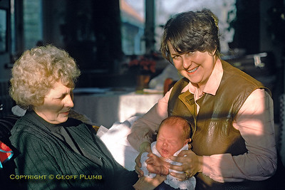 Jackie & Son Chris with Lily, February 1979