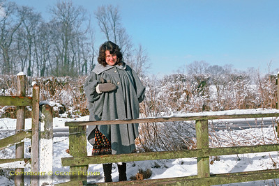 Jackie in the Snow, Dinton, February 1979