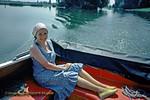 Jackie, Honeymoon Boat, on the Thames near Harleyford, June 1976