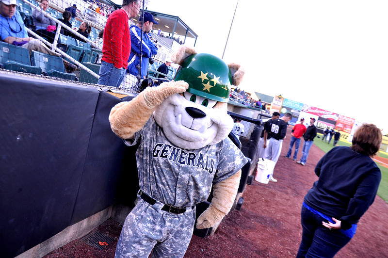 """Sarge"" is the mascot of the Jackson Generals"