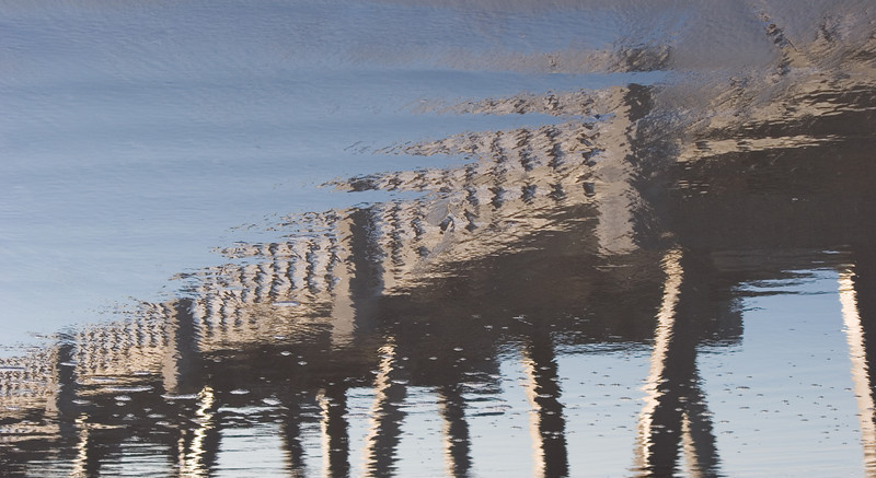 Reflection of the Jacksonville Beach, Florida Pier