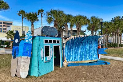 """Santa's Surf Shack"" at Deck the Chairs"