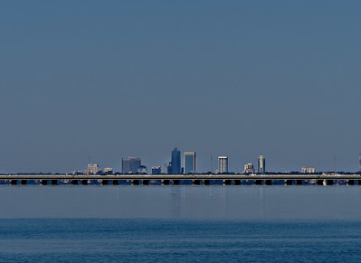Buckman Bridge with the Jacksonville skyline in the background