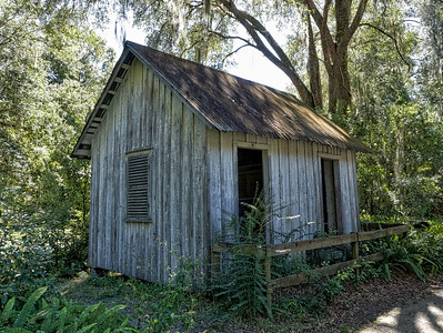 Farm shed at Walter Jones Historic Park