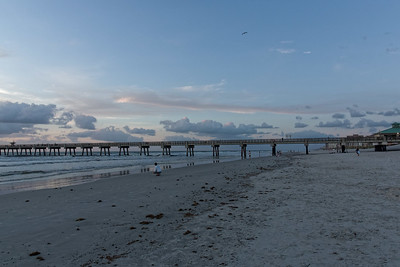 Jacksonville Beach Pier at Sunrise.