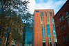 Building exterior images as construction finishes on the medical school building, the soon-to-be home of the Jacobs School of Medicine Biomedical Sciences in downtown Buffalo, NY. <br /> <br /> Photographer: Douglas Levere