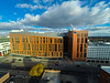 Aerial perspective of the medical school building in downtown Buffalo, NY.<br /> <br /> Photographer: Douglas Levere