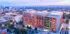 Downtown Buffalo view of the Medical School Building housing the Jacobs School of Medicine and Biomedical Sciences. <br /> <br /> Photographer: Douglas Levere